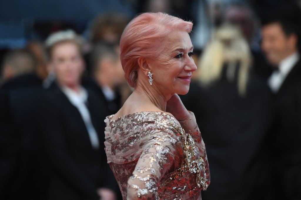Helen Mirren Pink Hair at Cannes Film Festival