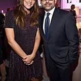 Jennifer Garner chatted with her costar Steve Carell.