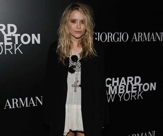 Slide Photo of Mary-Kate Olsen Showing Support at an Art Opening in NYC