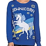 Women's Funny Unicorn Hanukkah Sweater — Jewnicorn