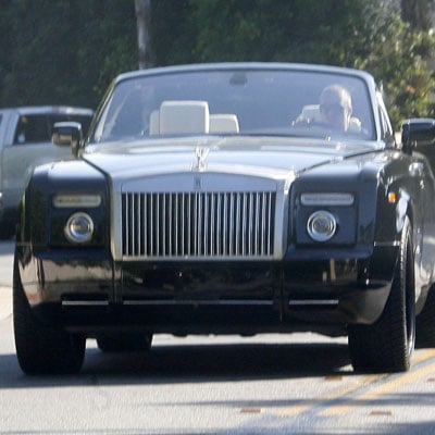 David Beckham Drives in LA