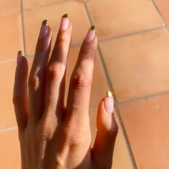 Kendall Jenner's Gold French Manicure