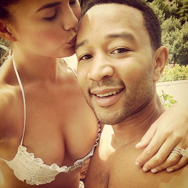 Chrissy had that honeymoon glow in this sweet selfie with John in Portofino, Italy, in September 2013.
