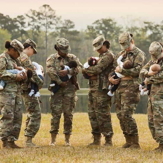 Soldiers Breastfeeding in Uniform 2018