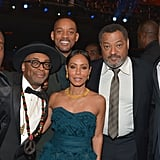 Pictured: Laurence Fishburne, Will Smith, Jada Pinkett Smith, Terrence Howard, Spike Lee, and Don Cheadle