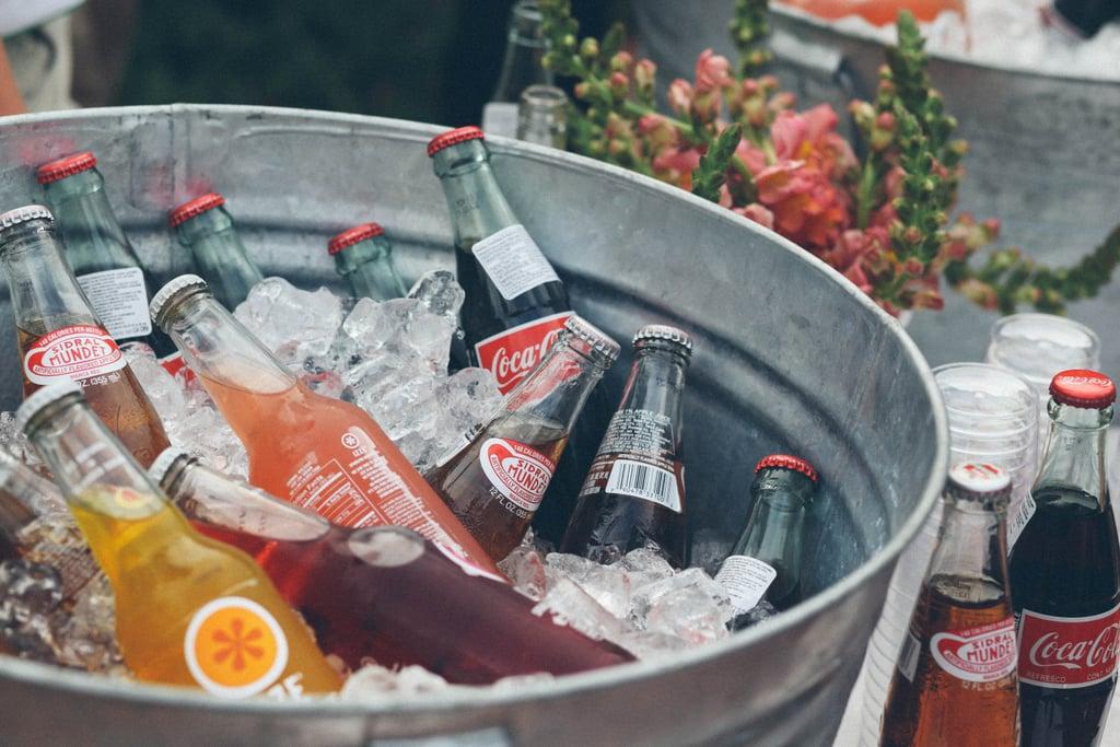 Advent Calendar Ideas Wedding : Put nonalcoholic drinks on display in cute ice buckets