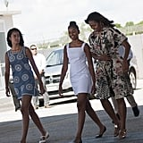 Michelle Obama, Sasha Obama, and Malia Obama