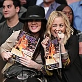 Khloé Kardashian and Nicole Richie goofed around in the stands during a January 2011 Lakers game.
