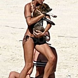 George and Elisabetta Spend a Bikini and Puppy-Filled Day in Paradise