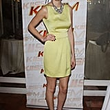 Whitney Port always has the cutest dresses, and this yellow one is no exception. The accessories are great, too.