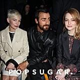 Justin Theroux at Paris Fashion Week March 2018
