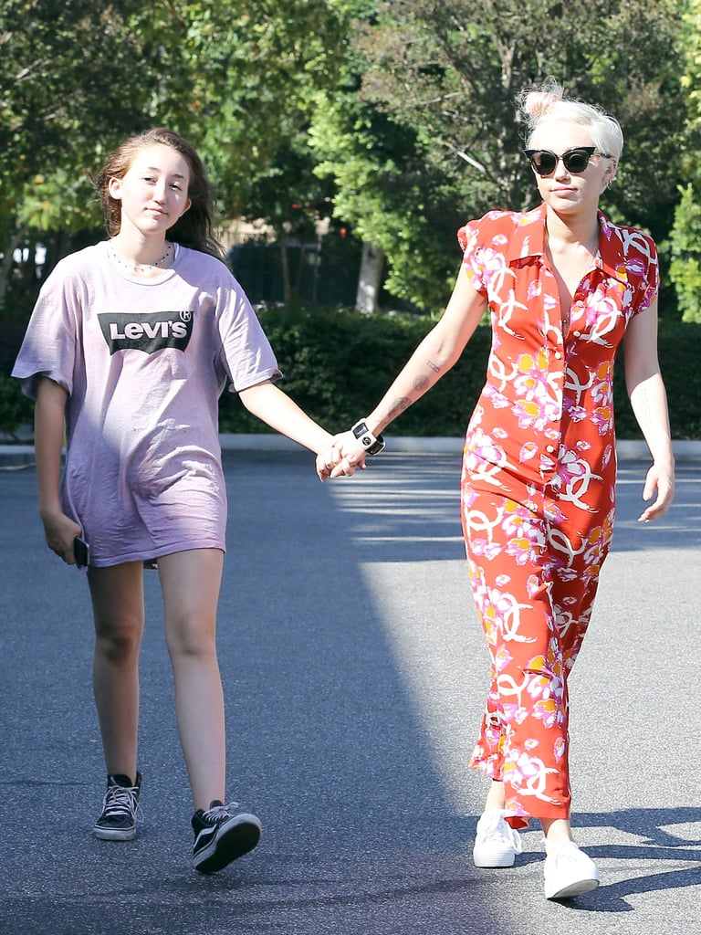 Miley Cyrus and her sister Noah Cyrus shopped in LA on Sunday.
