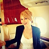 "Jennifer talked about her pixie haircut during a 2013 Q&A, joking around as usual: ""It grew to an awkward-gross length, and I kept putting it back in a bun, and I was like 'I don't want to do this,' so I just cut it off. It couldn't get any uglier."" Source: Facebook user Jennifer Lawrence"