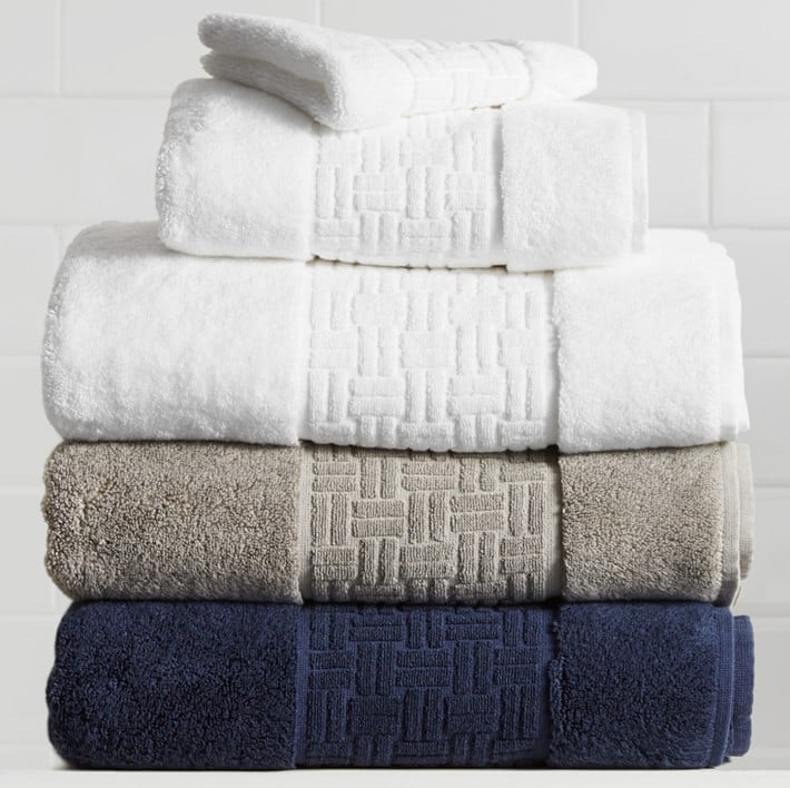 Williams Sonoma Chambers® Tencel Sculpted Border Towels