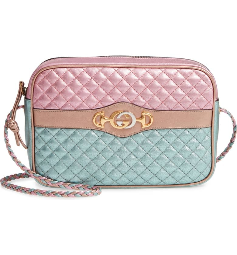 15c5ca12469aee Gucci Small Quilted Metallic Leather Shoulder Bag | Expensive ...