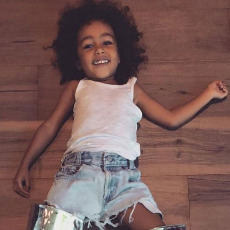 North West Trying On Kim Kardashian's Boots on Instagram