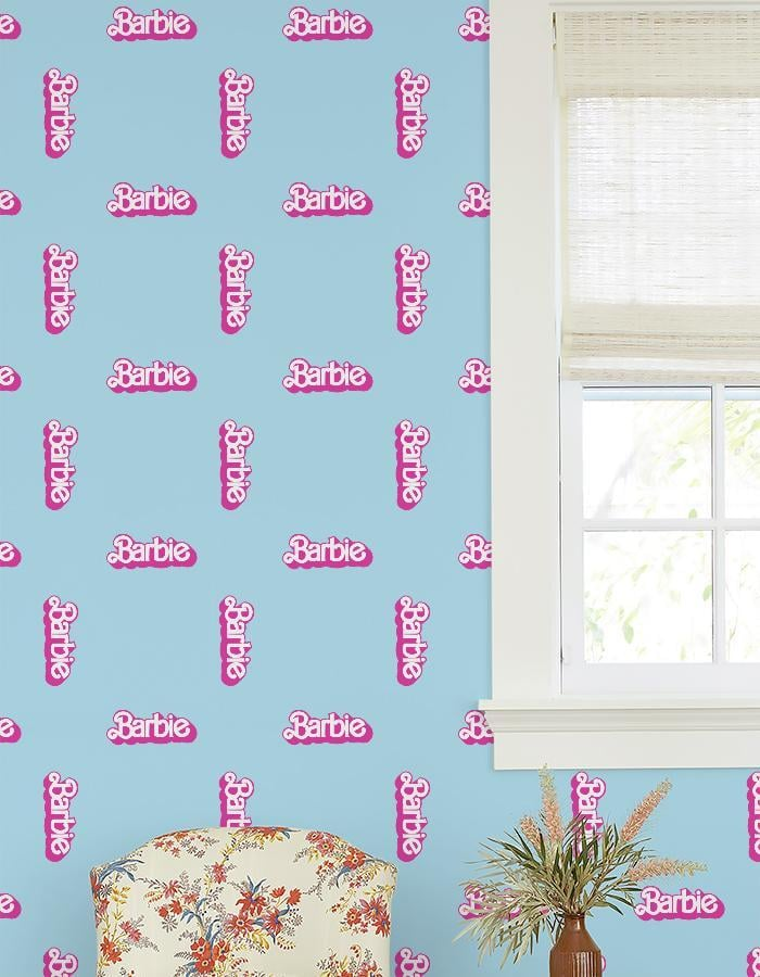 Barbie '80s Logo Wallpaper by Barbie