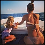 Harlow Madden and Nicole Richie took in the scenery while yachting through the Mediterranean.  Source: Instagram user nicolerichie