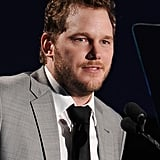 Chris Pratt spoke on stage at the Reel Stories, Real Lives benefit in LA.