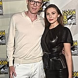 Pictured: Paul Bettany and Elizabeth Olsen at San Diego Comic-Con.