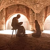 Cersei (Lena Headey) is in a pretty bad position with the High Sparrow (Jonathan Pryce).