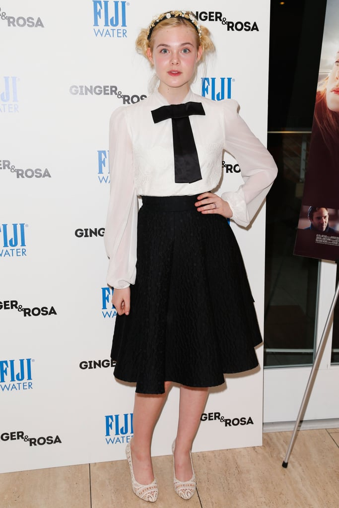 Elle Fanning posed before the screening.