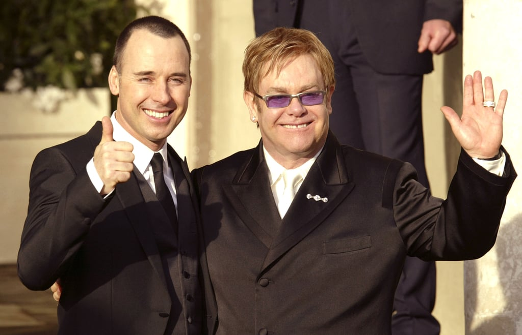 Elton John and David Furnish celebrated their union in December 2005 in Windsor, England.