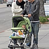 Selma Blair and Arthur: Mutsy 4 Rider Light