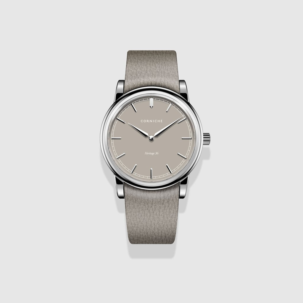 Corniche Heritage Taupe Steel Watch