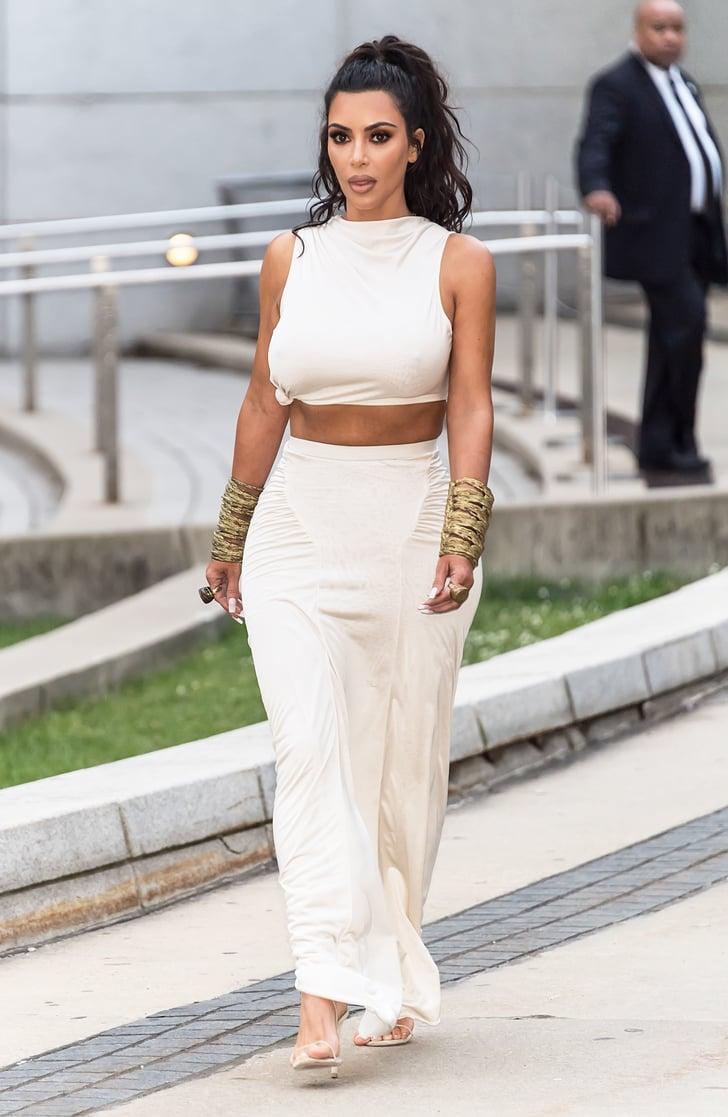 kim kardashian's outfit at cfda awards 2018  popsugar
