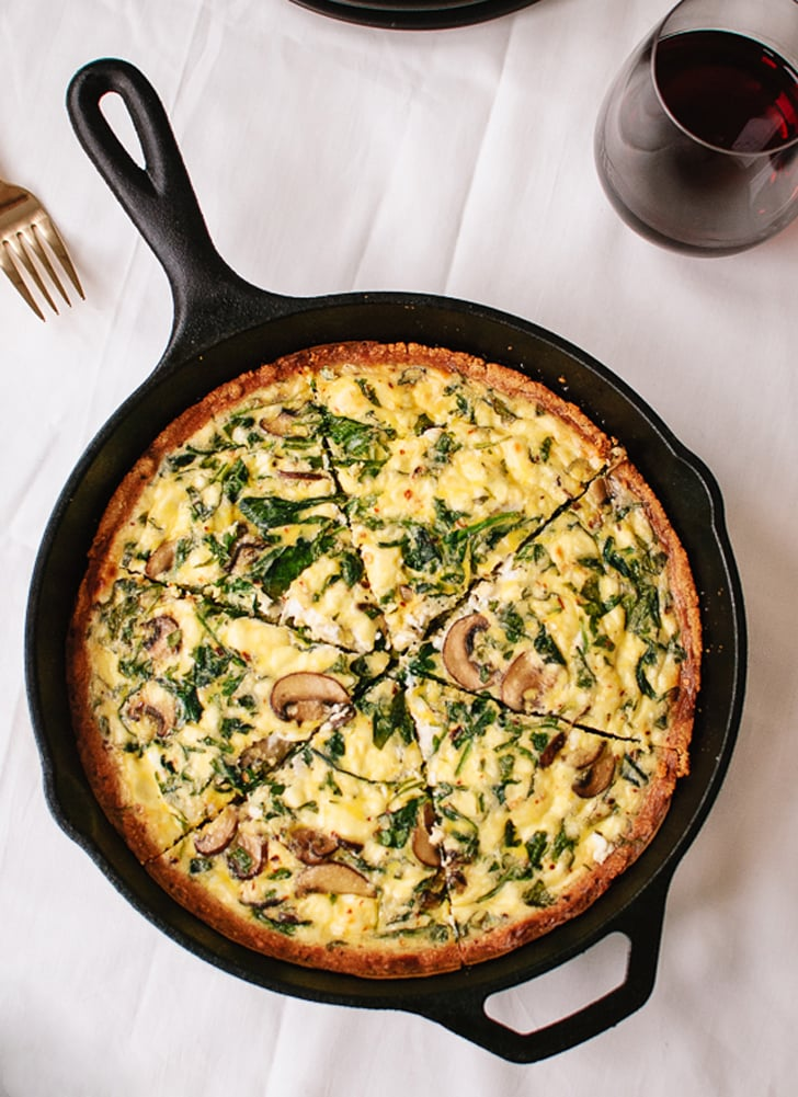 Gluten-Free Quiche With Arugula and Mushrooms