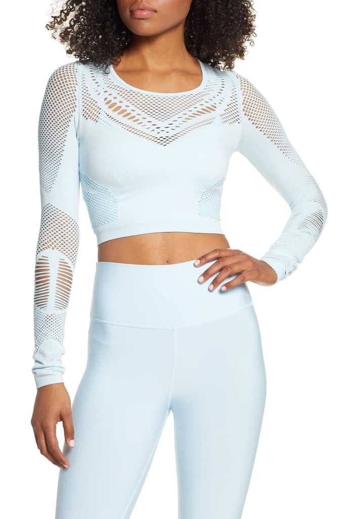 Alo Siren Long Sleeve Crop Top