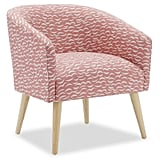 Crescent Moon Barrel Accent Chair