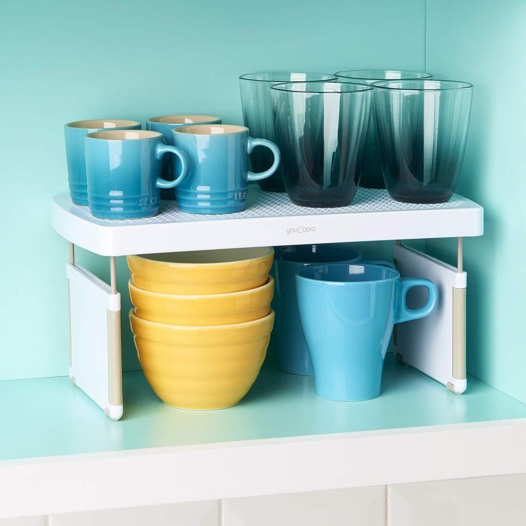 YouCopia StoreMore Height Expandable Kitchen Shelf Organizer