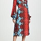 Stella Jean Snake Print V-Neck Dress