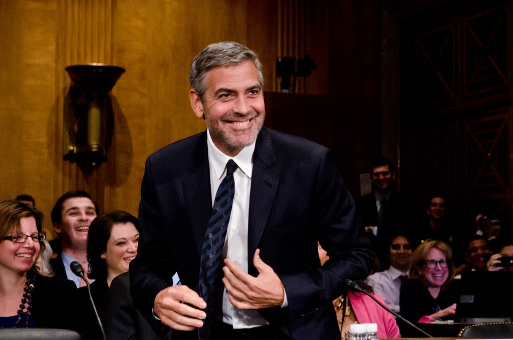 George Clooney Gets Serious With Senators on Capitol Hill
