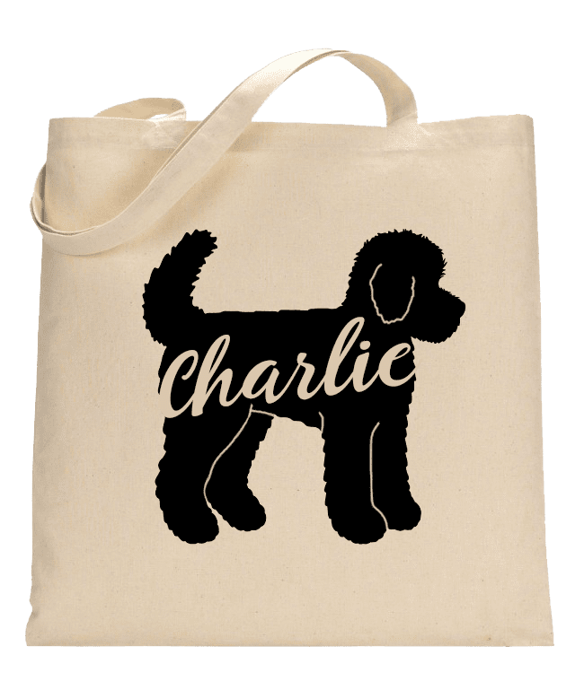 Love and a Doodle Custom Tote Bag
