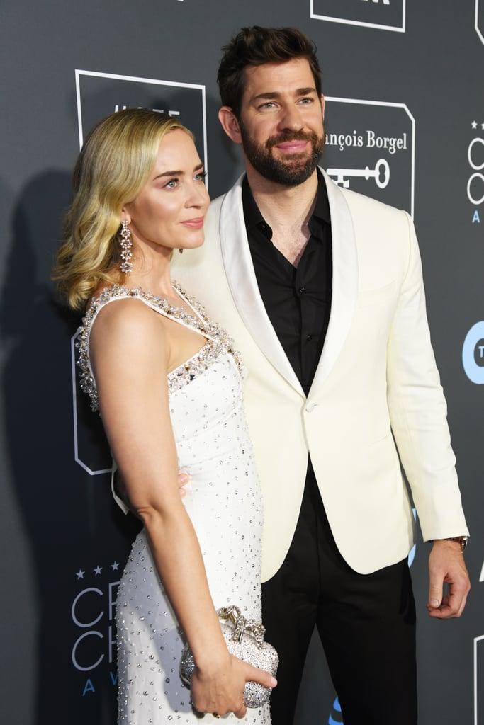 Emily Blunt and John Krasinski at the 2019 Critics' Choice