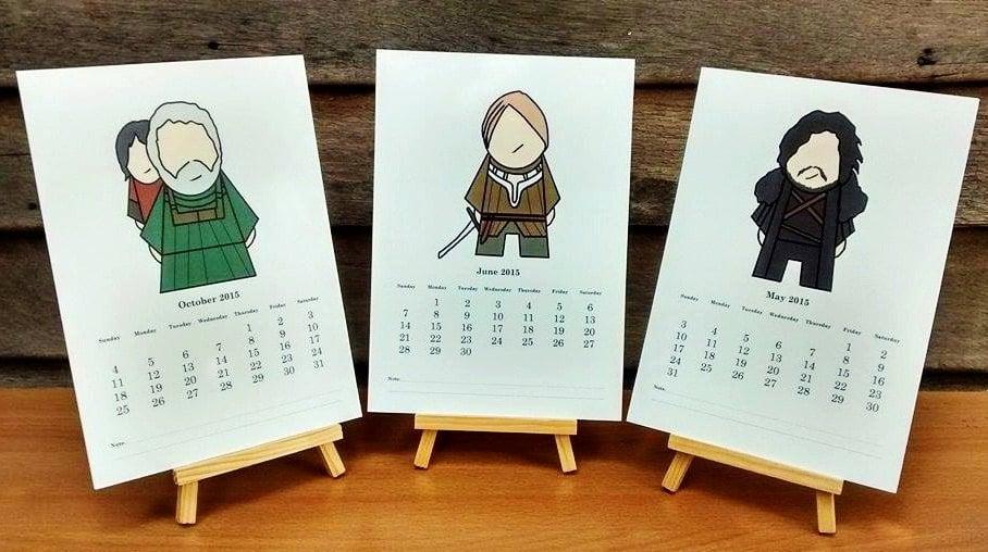 Game of Thrones Calendar ($18)