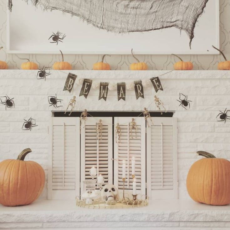 elegant halloween mantel decor popsugar home - Halloween Mantle