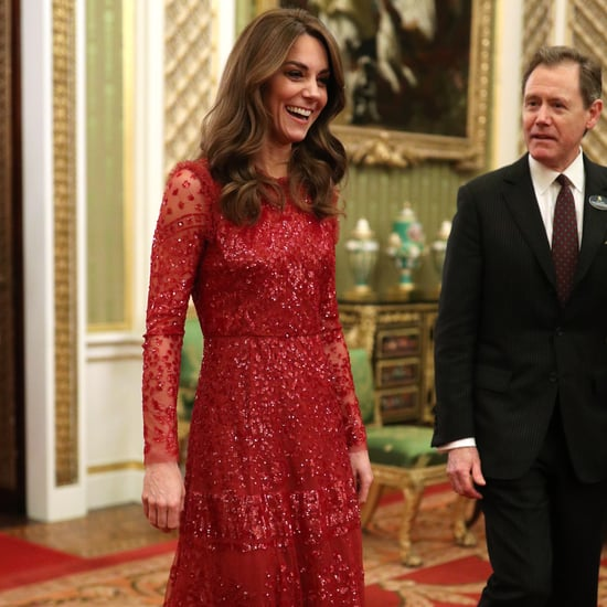 Kate Middleton Wears Red Needle & Thread Dress 2020