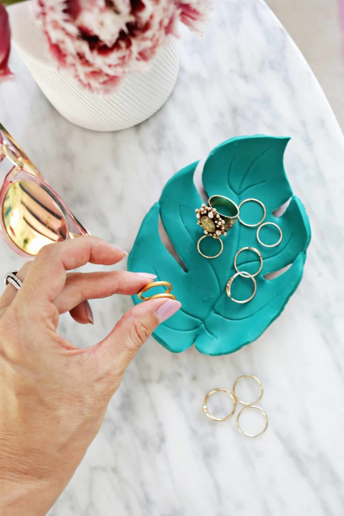 DIY Palm Leaf Ring Dish