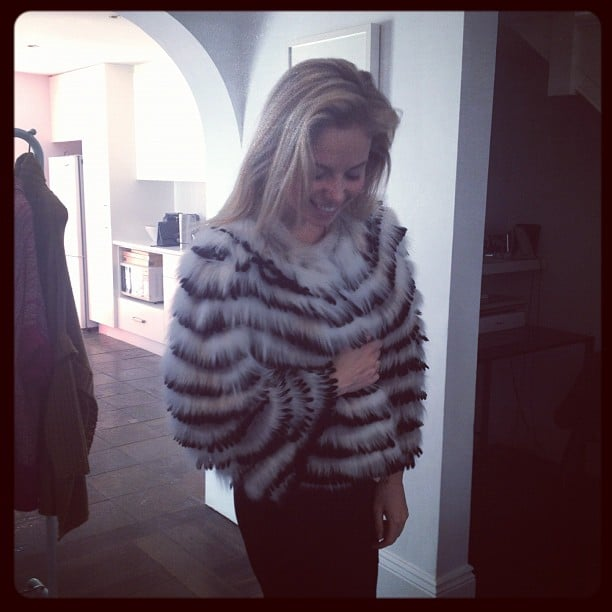 Ali looked so cute and cosy in this Gasparre fur.