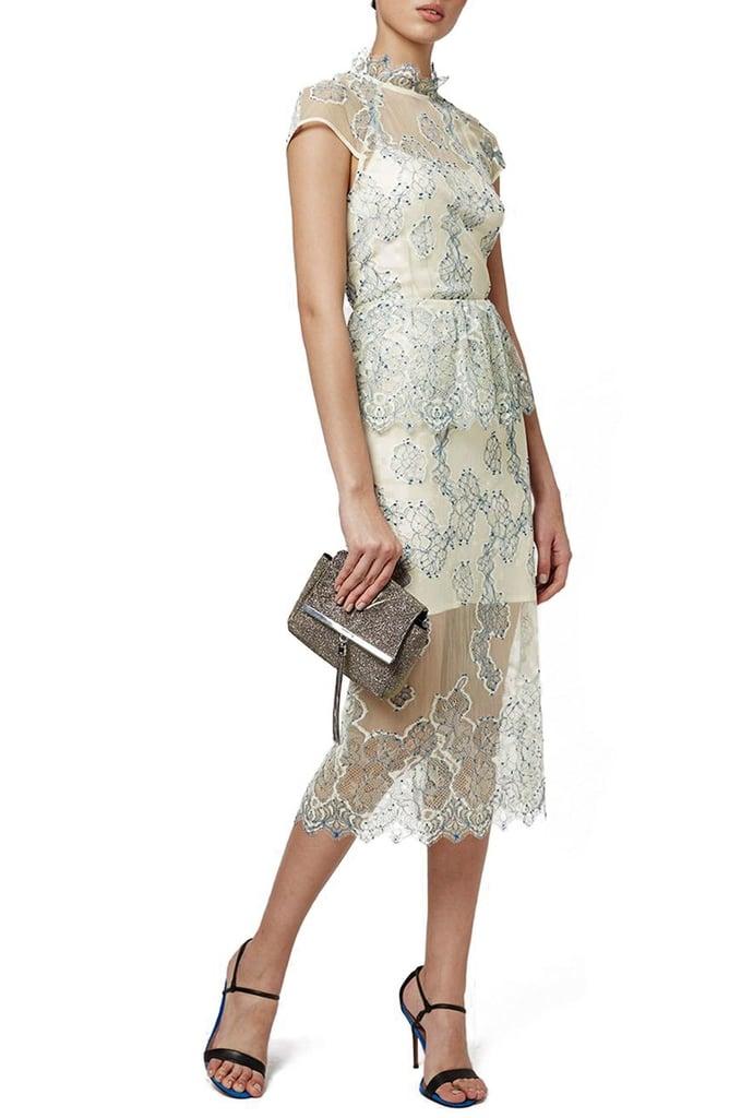 Topshop Poppy Ruffle Lace Dress ($210)