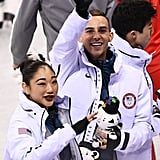 Adam and Mirai at the 2018 Winter Olympics