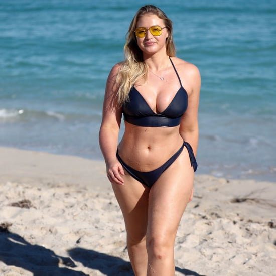 Iskra Lawrence at the Beach in Miami Dec. 2017
