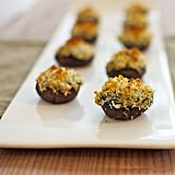 Mushrooms Stuffed With Artichoke and Spinach Dip