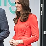 You'll Spot the Cool Detail on Kate Middleton's Red Suit Right Away