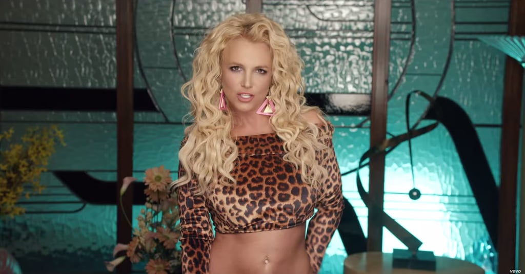 Rawr! A leopard crop top! And those colorful earrings . . .