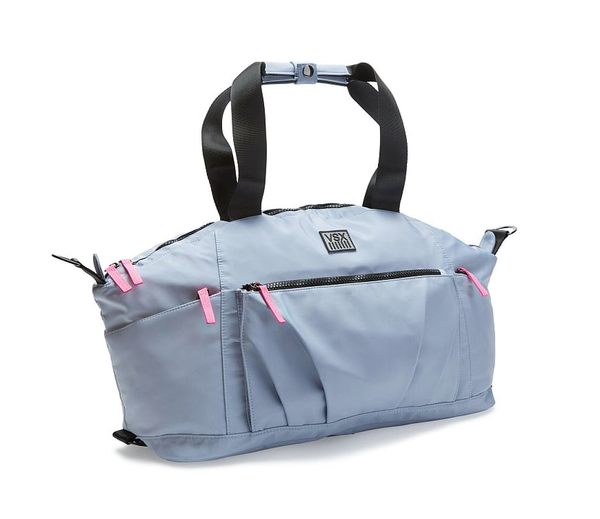 """""""While I'm working, I always try to fit a workout in between jobs. My gym bag is the perfect size to fit all of my gear, but small enough to lug around."""" Adriana recommends: Victoria Sport Gym Duffle Bag ($90)"""